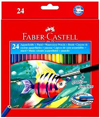 (LAPCOACX24) LAPICES FABER COLOR ACUARELA X 24 - ARTICULOS ESCOLARES - LAPICES DE COLORES