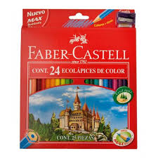 (LAPICOX24) LAPICES FABER COLOR X 24+1 SACAPUNT - ARTICULOS ESCOLARES - LAPICES DE COLORES