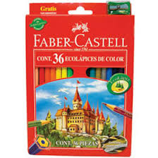 (LAPICOX36) LAPICES FABER COLOR X 36+1 SACAPUNT - ARTICULOS ESCOLARES - LAPICES DE COLORES
